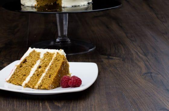 Coffee Raspberry Cake