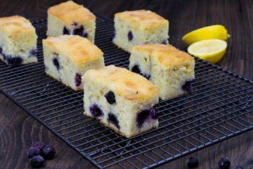 Lemon and Blueberry Slice Recipe