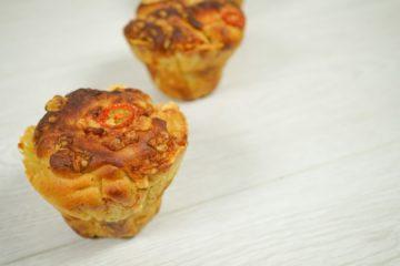 Cheese and Tomato Artisan Muffin
