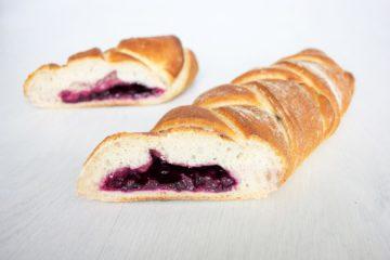Blueberry Plait with Sourdough