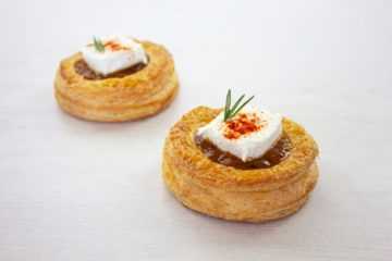 Mango Chutney, Goats Cheese and Paprika Danish with Sourdough
