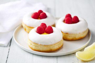 Lemon & Raspberry Doughnut – Vegan